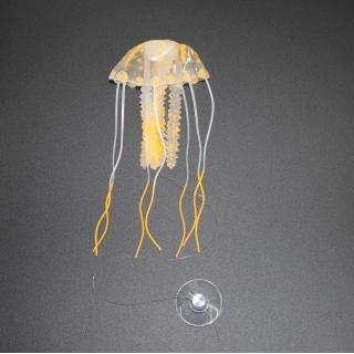 """Декор """"Медуза"""" из силикона для аквариума, плавающая. Цвет оранжевый"""
