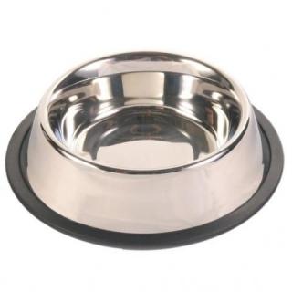Миска металлическая с резиновым кольцом 0,7 л