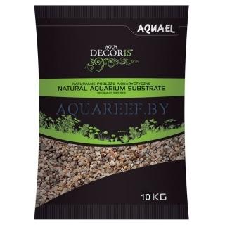 Aquael substrate, Естественный разноцветный гравий 10 кг, 3-5 мм
