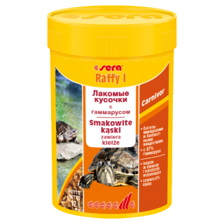 Sera Raffy I 100 мл, деликатесный корм для черепах и рептилий