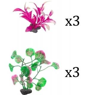Tetra Plantastics XS Pink- набор искусственных растений