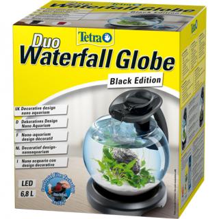 Tetra Duo Waterf Globe LED - Аквариум с фильтром и водопадом 6,8л черный