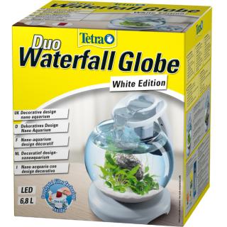 Tetra Duo Waterf Globe LED - Аквариум с фильтром и водопадом 6,8л белый